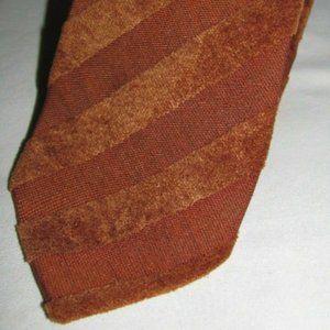 VTG Zegna Fuzzy Orange Diagonal Striped Necktie